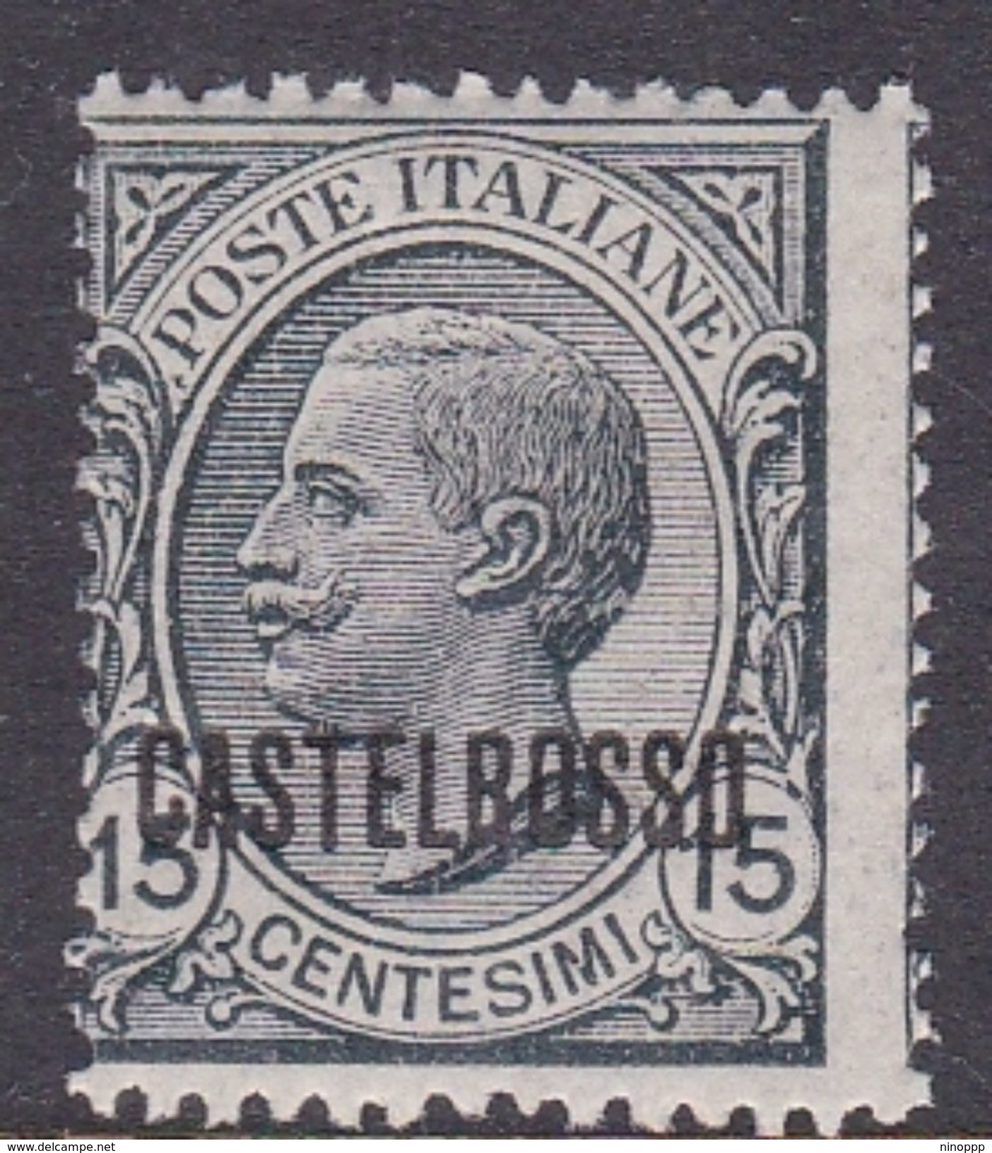 Italy-Colonies And Territories-Castelrosso S3 1922 15c Slate MNH - Italy