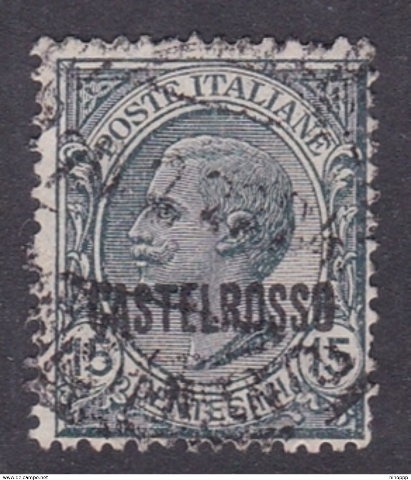 Italy-Colonies And Territories-Castelrosso S3 1922 15c Slate Used - General Issues