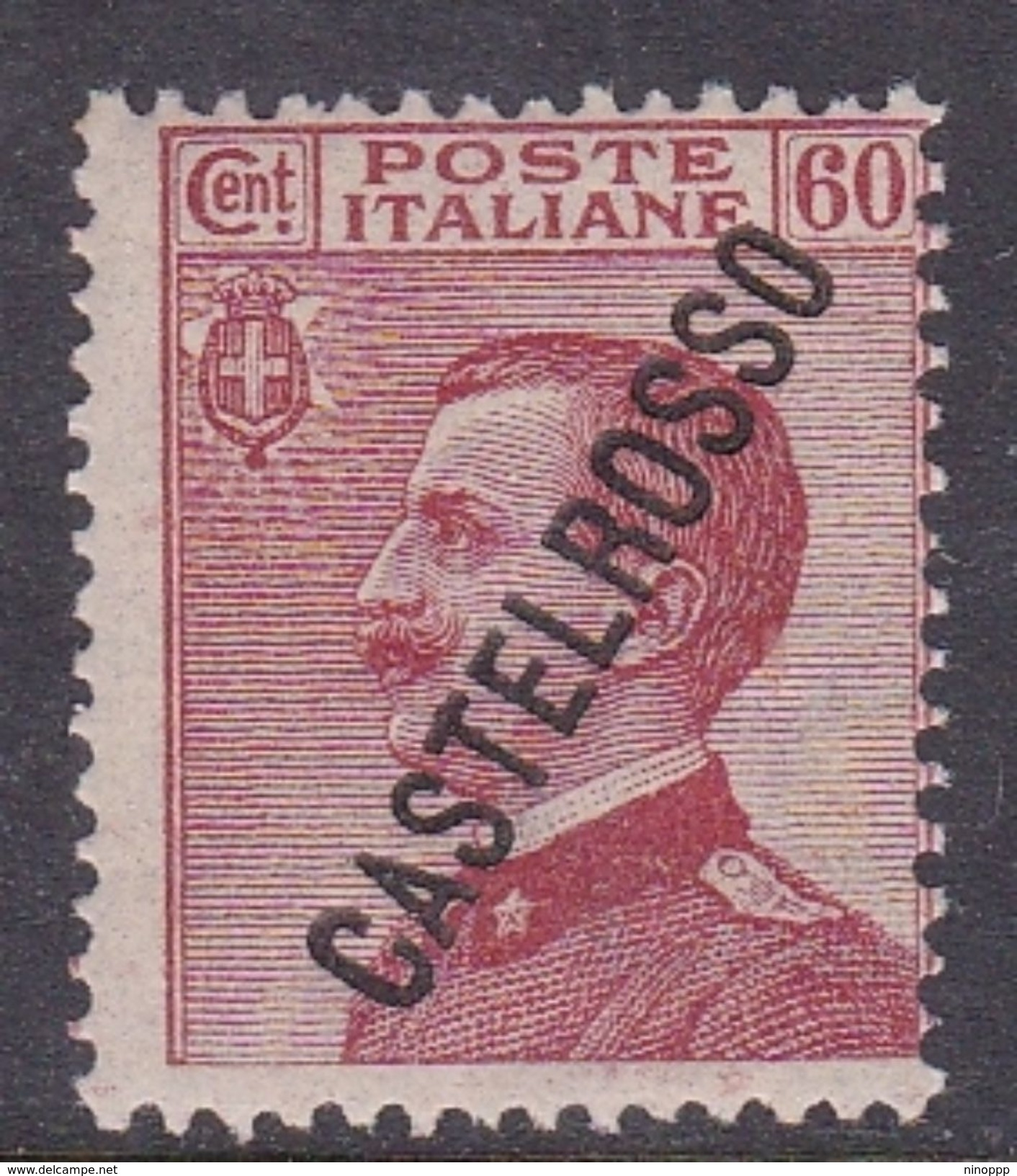 Italy-Colonies And Territories-Castelrosso S22 1924 60c Carmine Brown MNH - Italy