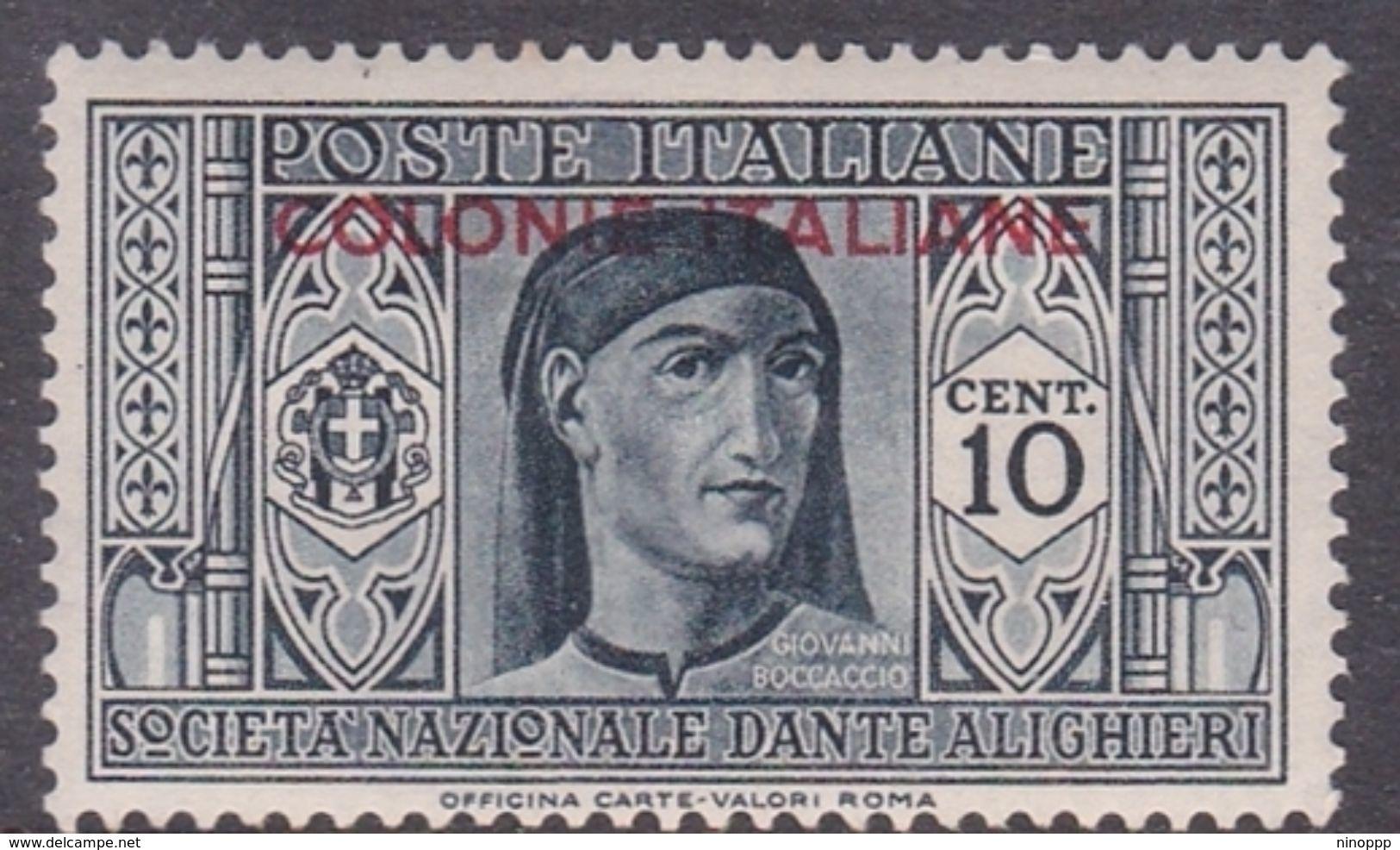Italy-Colonies And Territories-General Issue S11 1932 Dante Alighieri 10c Dark Gray MH - Italy