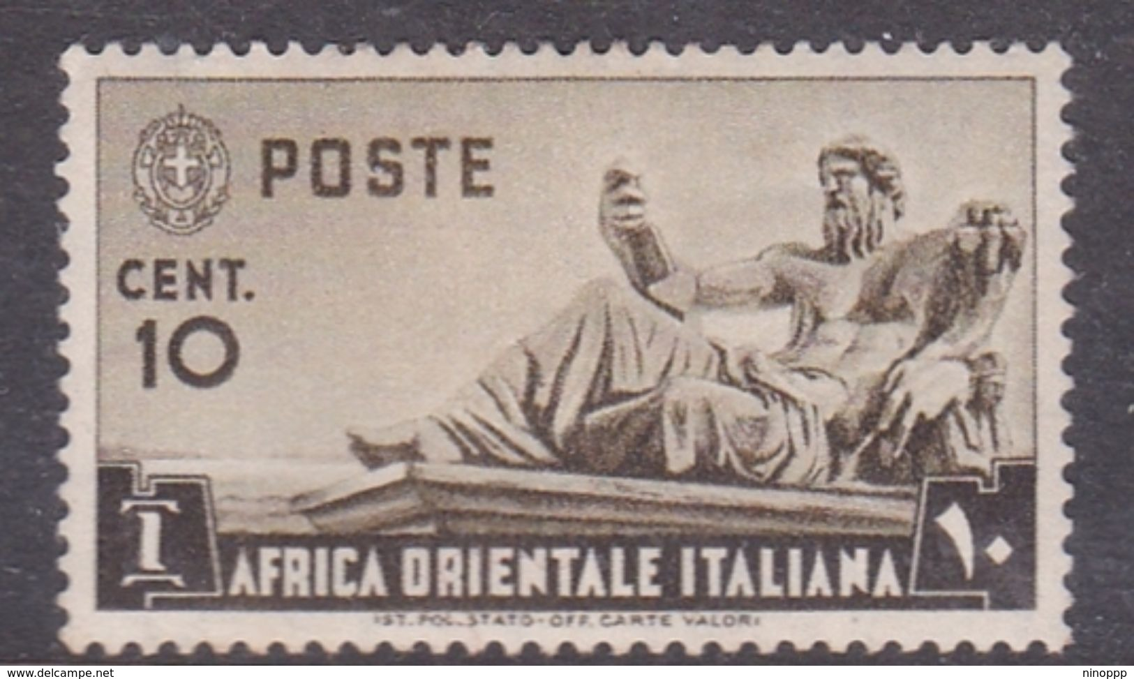 Italy-Colonies And Territories-Italian Eastern Africa S4 1938 10c Olive Brown MH - Italy