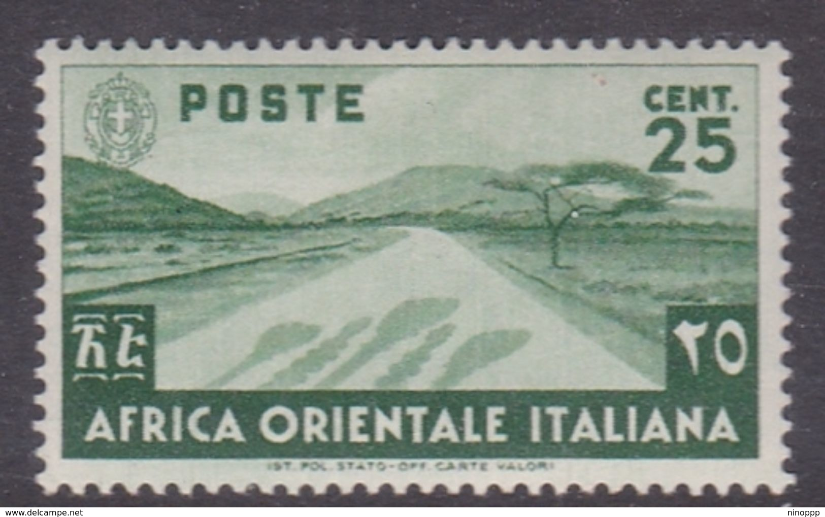 Italy-Colonies And Territories-Italian Eastern Africa S7 1938 25c Green MH - Italy