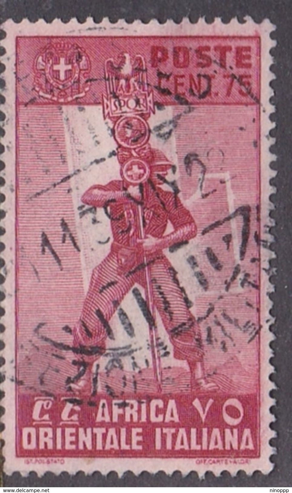Italy-Colonies And Territories-Italian Eastern Africa S11 1938 75c Carmine Used - Italy