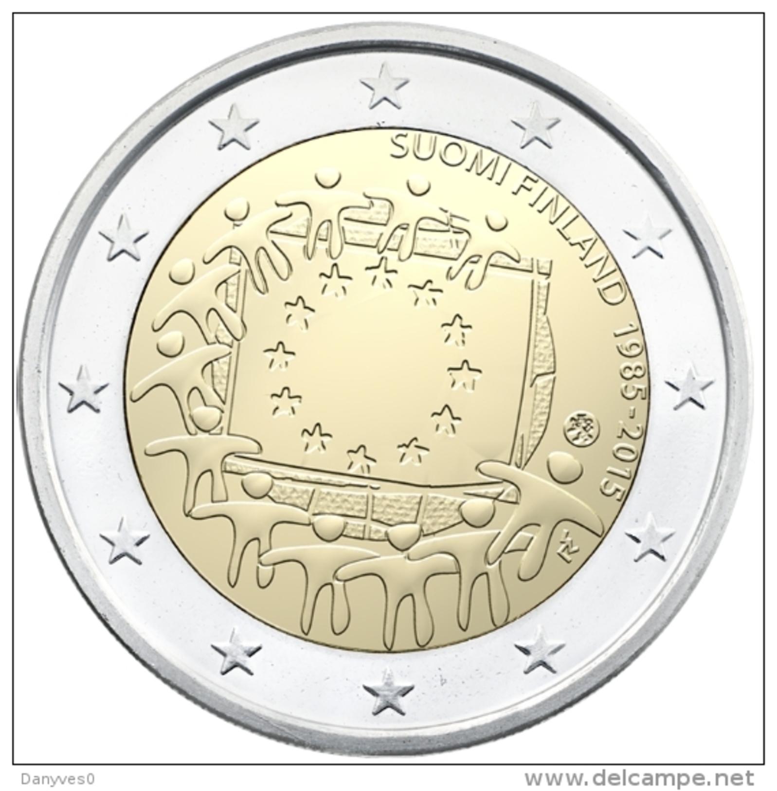 """Pièce 2 Euros Commémorative  UNC Autriche """"  Drapeau Européen  """" - Austria"""