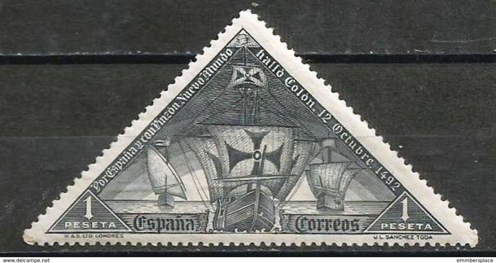 Spain - 1930 Columbus Fleet 1p  MNH **        Sc 430 - Unused Stamps