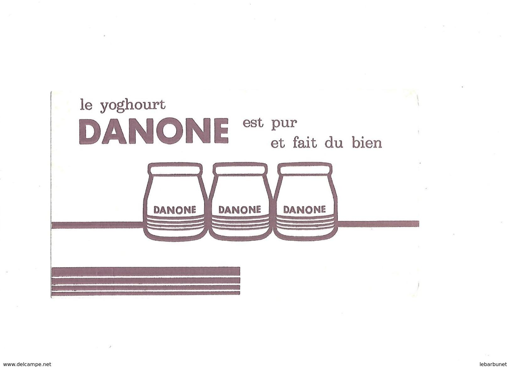 Buvard Ancien Yoghourt Danone Avec 3 Pots Danone - Y