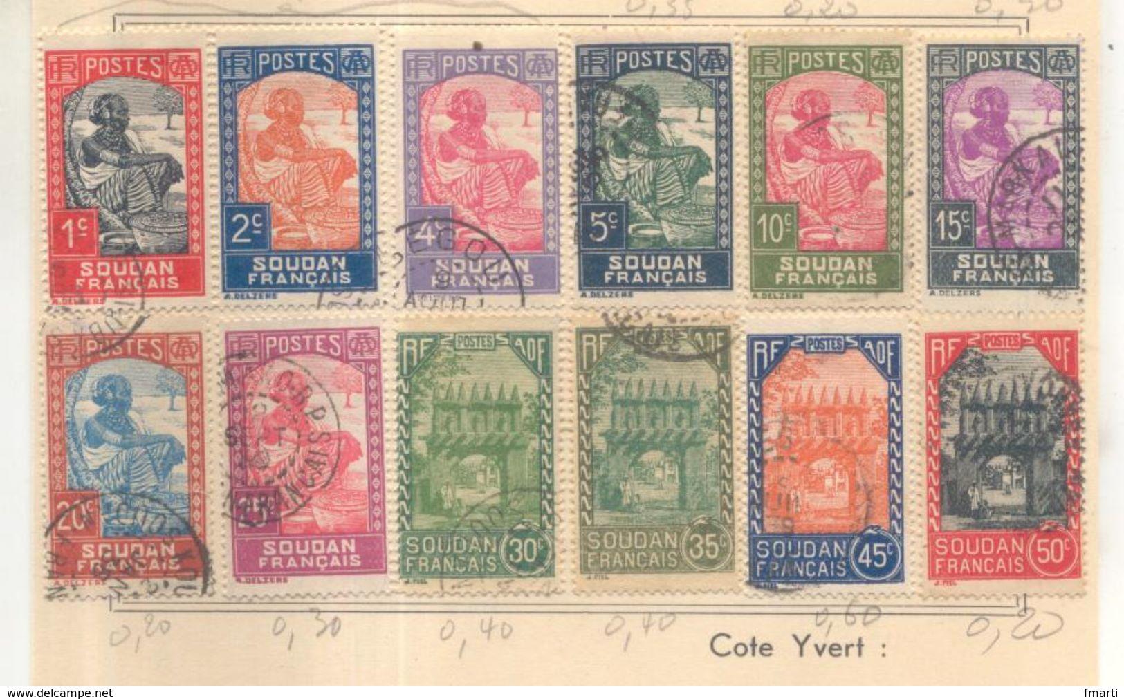 Lot De Timbres Sur Charnière : Soudan Français - Soudan (1954-...)