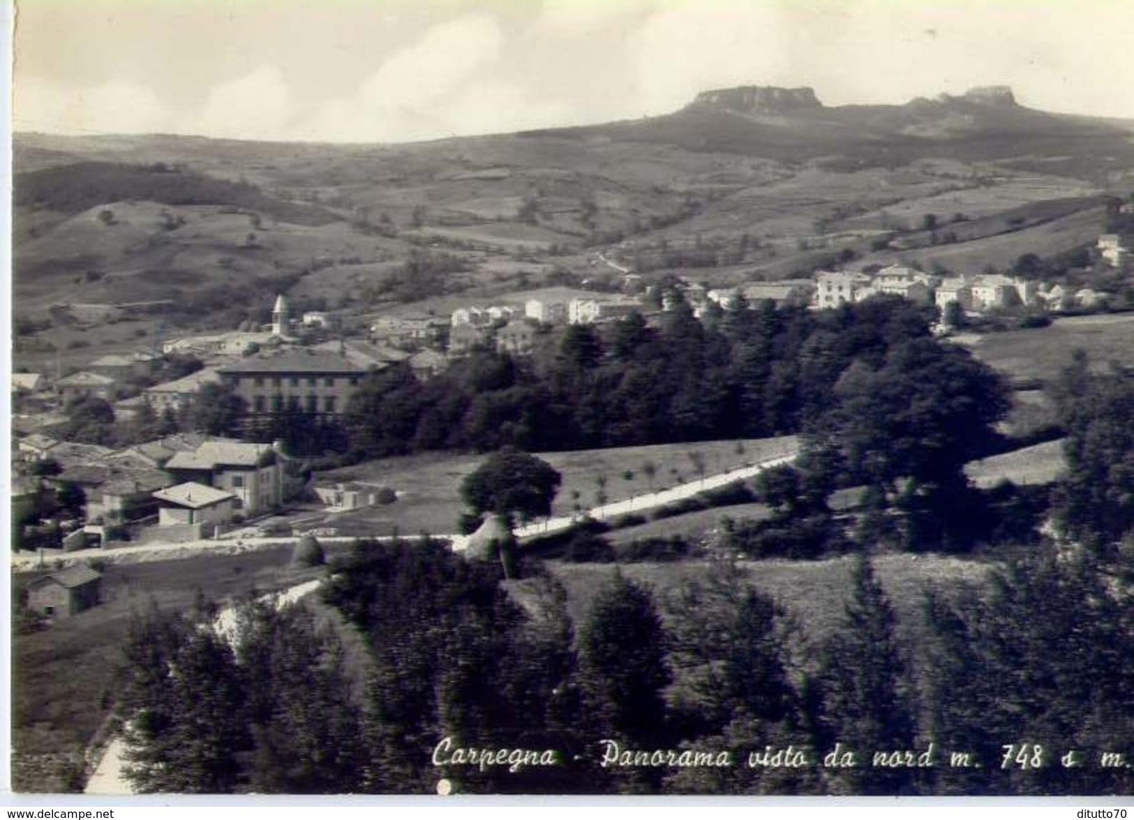 Carpegna - Pesaro - Panorama Visto Da Nord - Formato Grande Viaggiata – Ar - Ancona