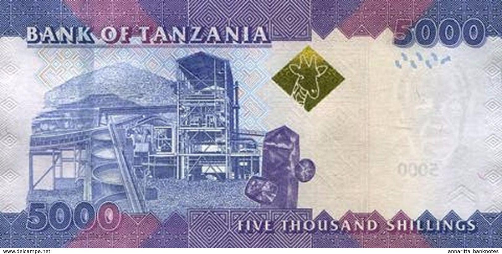 TANZANIA 5000 SHILLINGS ND (2015) P-43b UNC SIGN. UNKNOWN & NDULU [TZ142b] - Tanzania