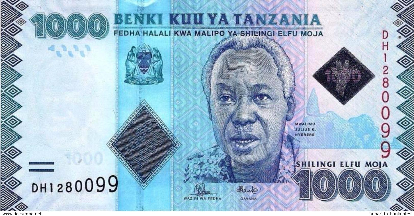 TANZANIA 1000 SHILLINGS ND (2015) P-41b UNC [TZ140b] - Tanzania