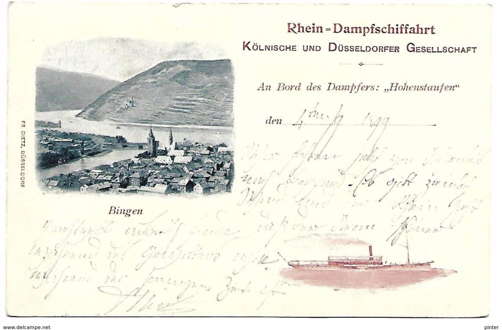 ALLEMAGNE - RHEIN-DAMPFSCHIFFAHRT - Bingen - Carte Voyagée En 1899 - Allemagne