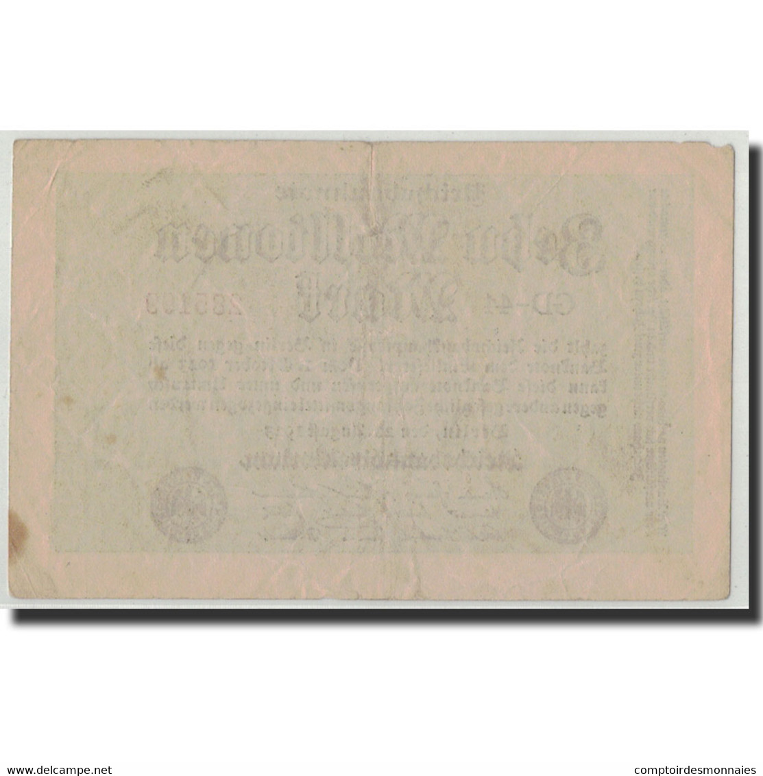 Allemagne, 10 Millionen Mark, 1923, KM:106c, 1923-08-22, TB+ - [ 3] 1918-1933 : Weimar Republic