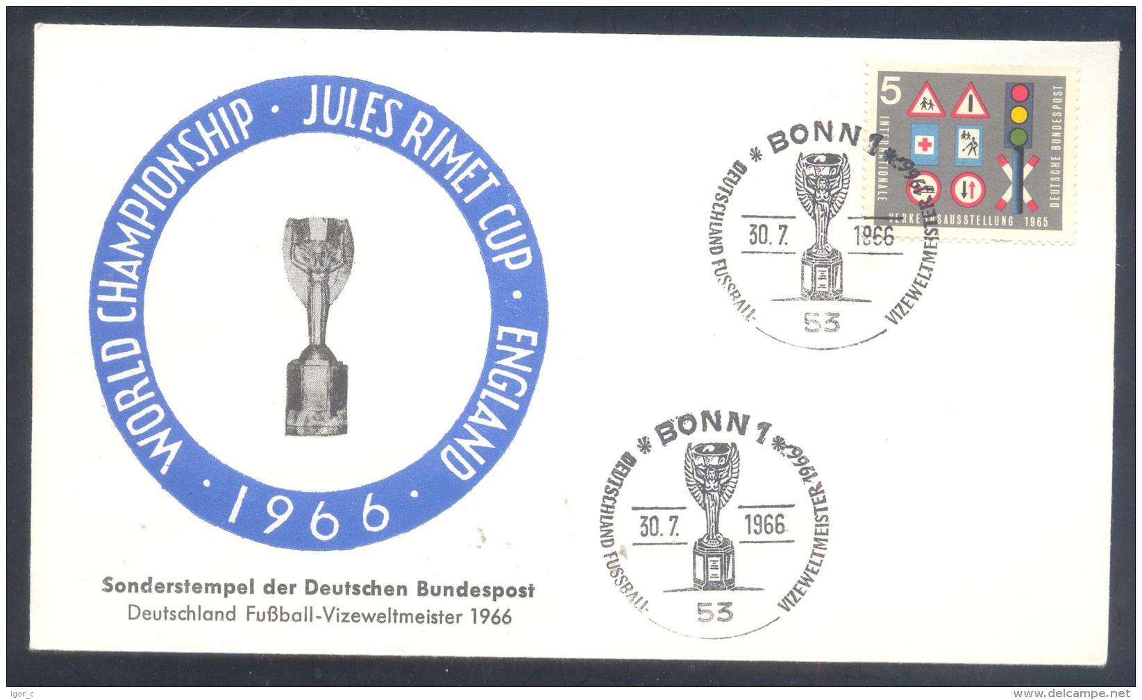 Germany 1966 Cover; Football Soccer Fussball Calcio; FIFA World Cup WM Weltmeisterschaft Mundial Jules Rimet Cup - Coupe Du Monde