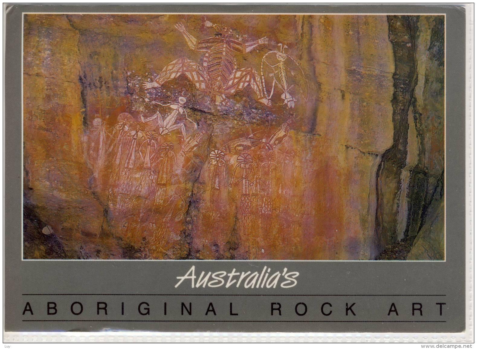 AUSTRALIAN's ABORIGINAL ROCK ART ; Large Format, Nice Stamp - Aborigines