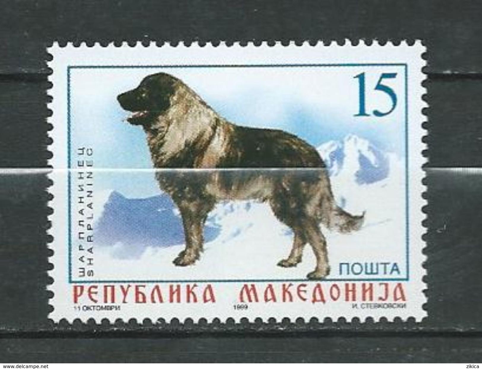 Macedonia / Macedonie 1999 Dogs.Chien De Berger Yougoslave De Charplanina. MNH - Macedonia