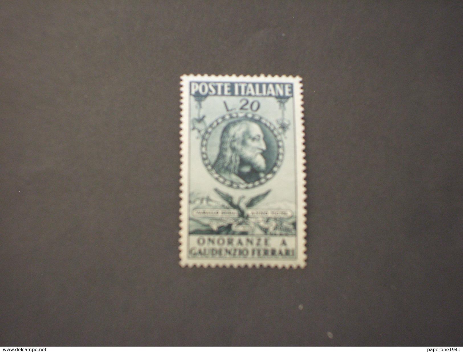 ITALIA REPUBBLICA - 1950 FERRARI - NUOVO(++) - 6. 1946-.. Republic