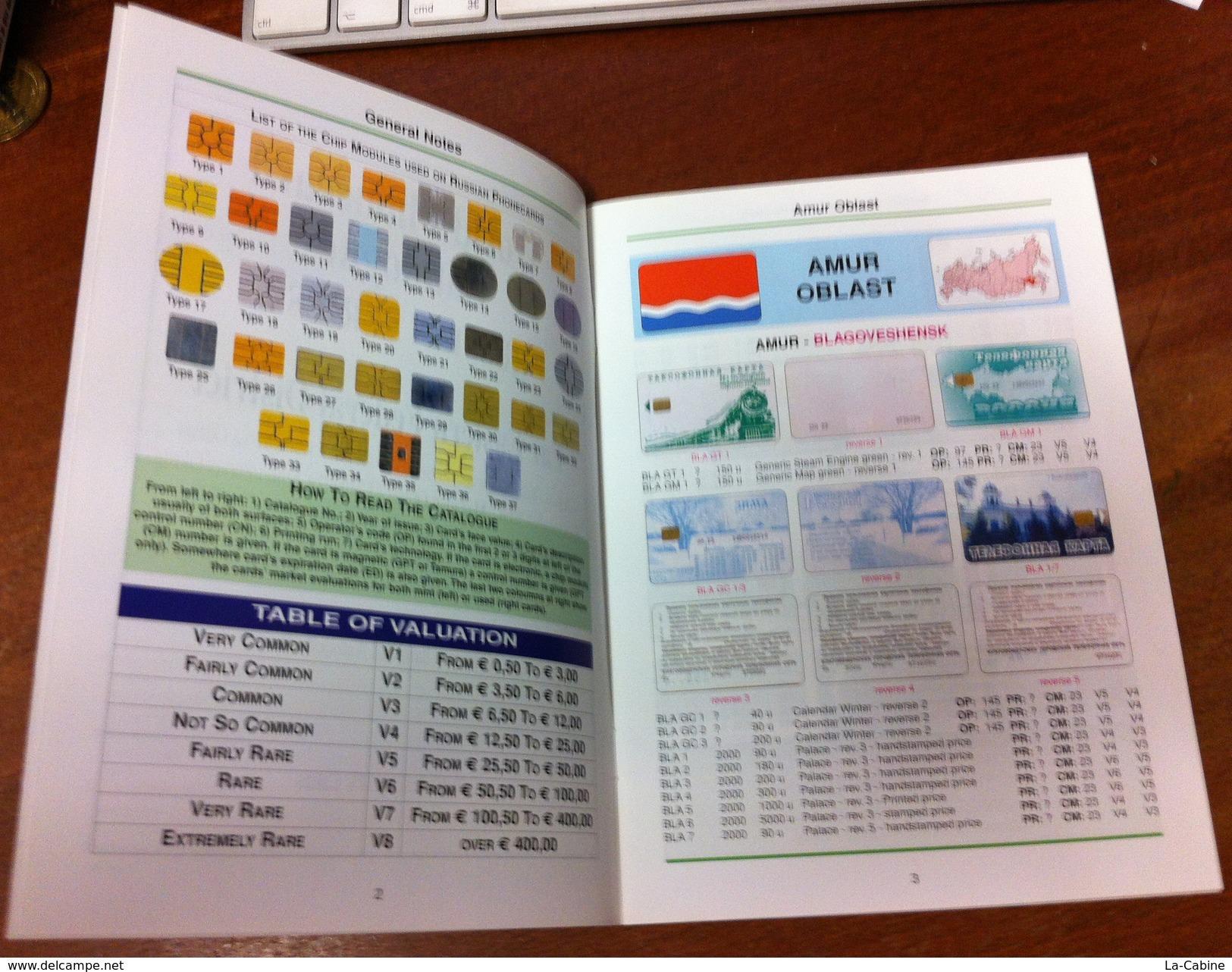 TELECARTE PHONECARD CATALOGUE RUSSIE RUSSIAN SERIES 1 AMUR OBLAST JEWISH AUTONOMOUS OBLAST. DE 2005 EN BON ÉTAT 48 PAGES - Livres & CDs