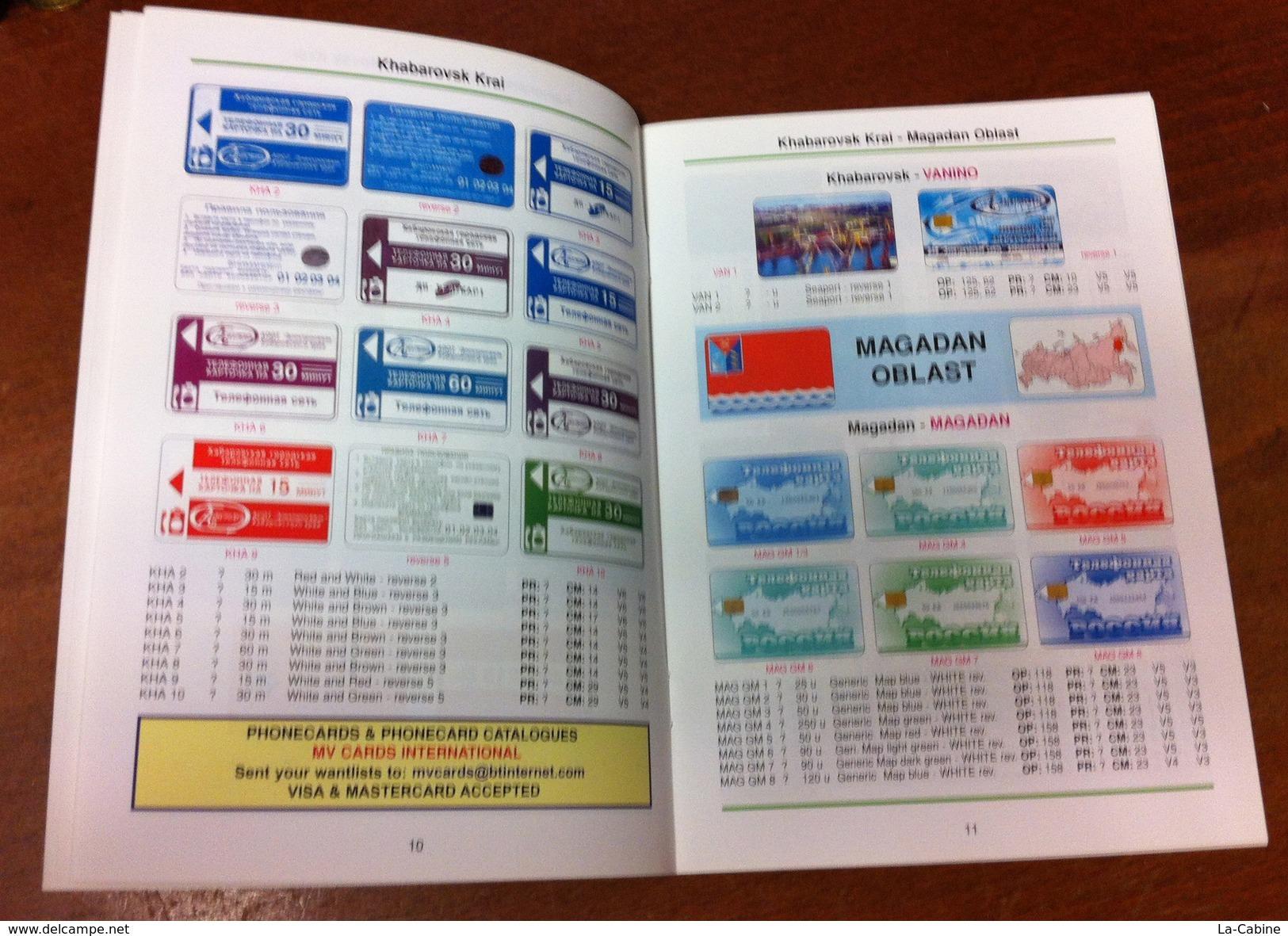 TELECARTE PHONECARD CATALOGUE RUSSIE RUSSIAN SERIES 1 AMUR OBLAST JEWISH AUTONOMOUS OBLAST. DE 2005 EN BON ÉTAT 48 PAGES - Télécartes
