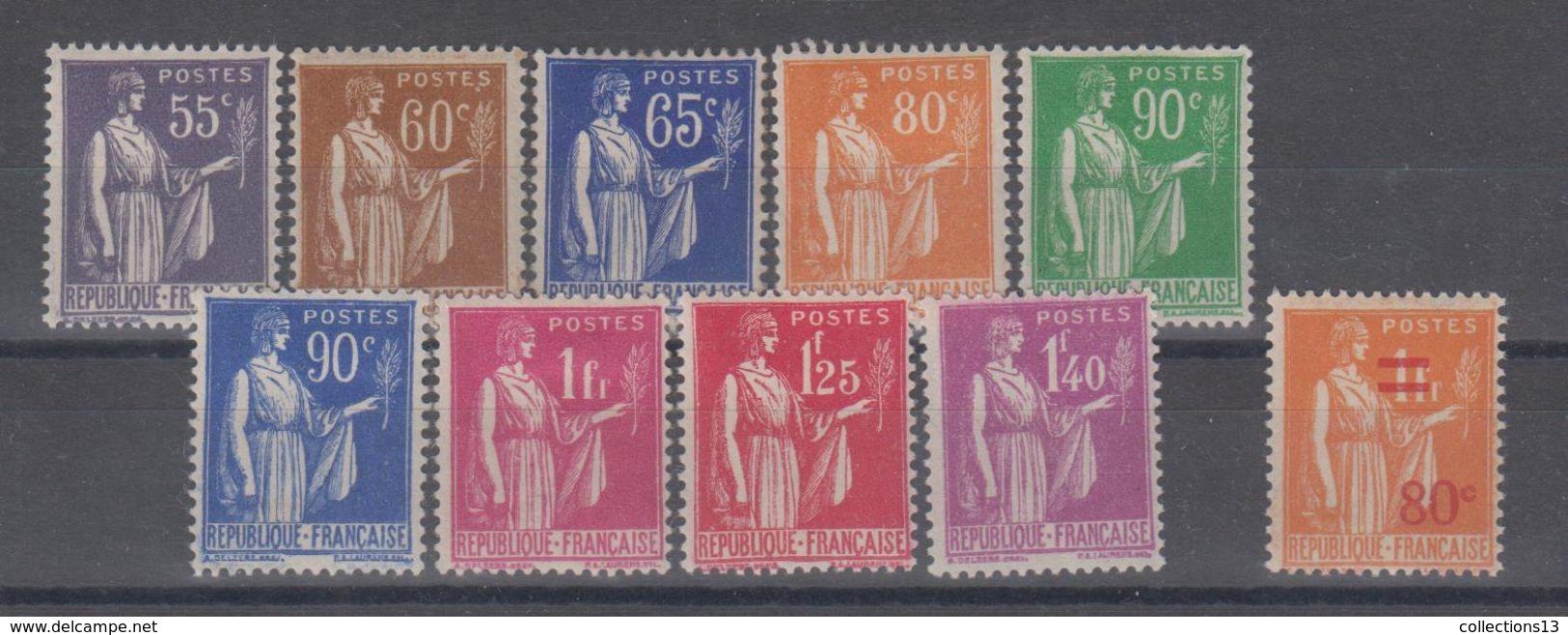 FRANCE - 363/371 + 359* Cote 17,40 Euros Depart à 10% - 1932-39 Paix