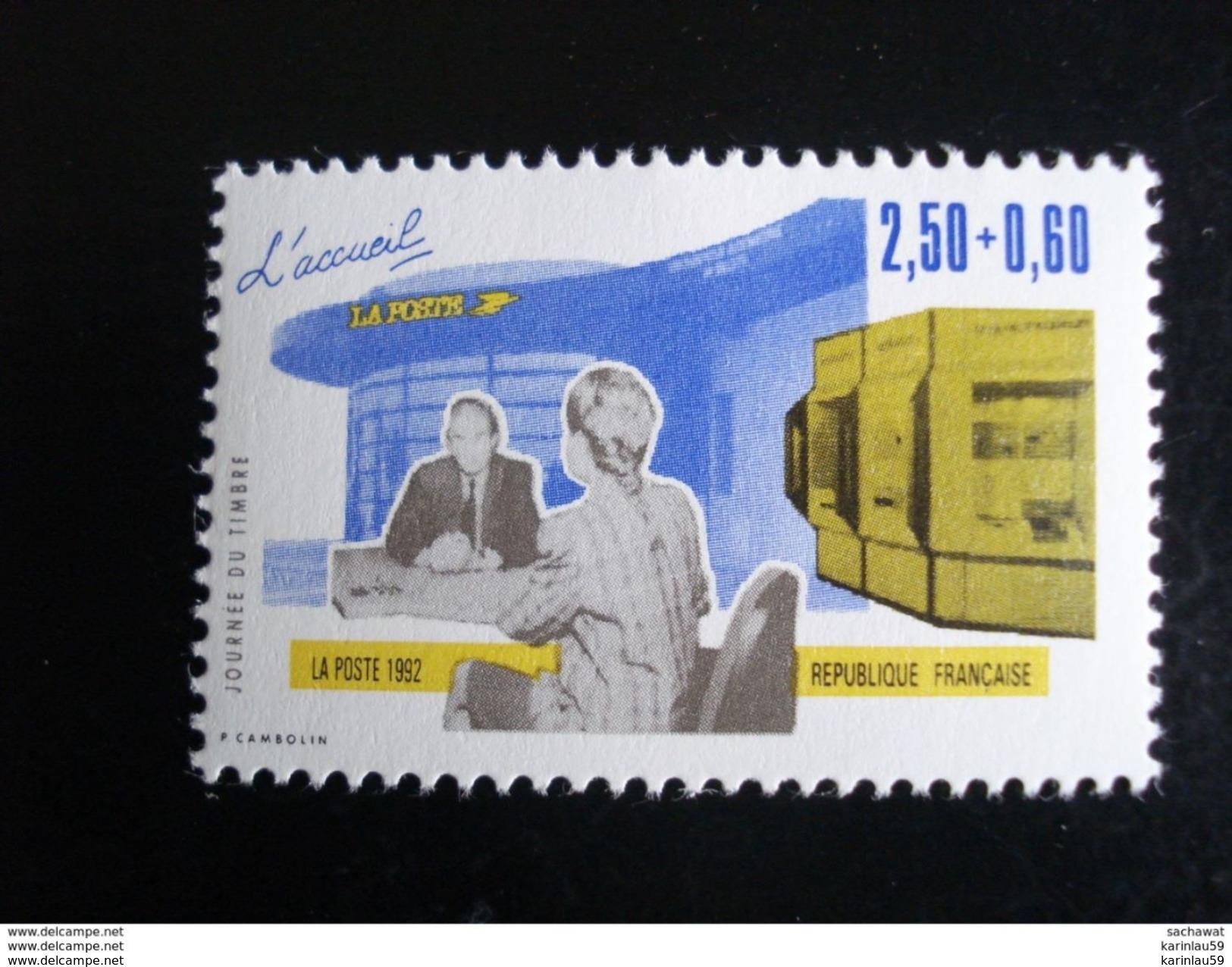 Timbre France - Année 1992 - Journée Du Timbre - L'accueil La Poste Y.T. 2743 - Neuf - France