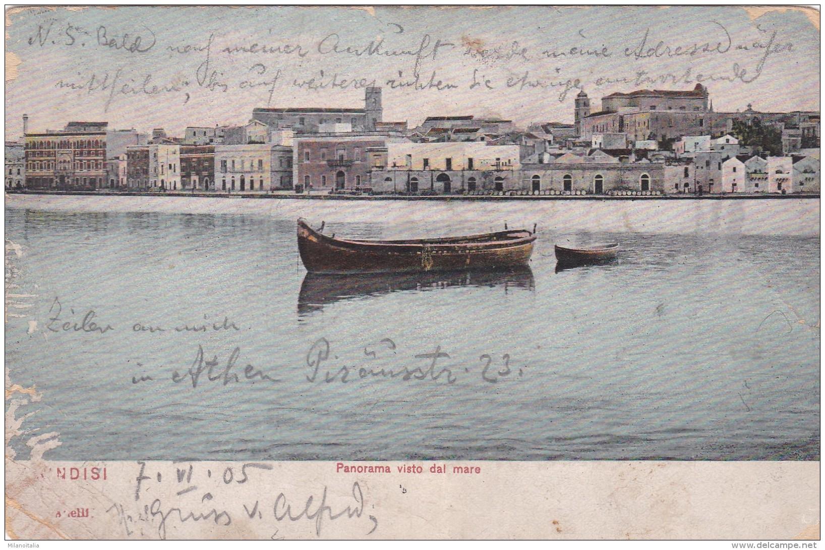 Brindisi - Panorama Visto Dal Mare * 7. VI. 1905 - Brindisi