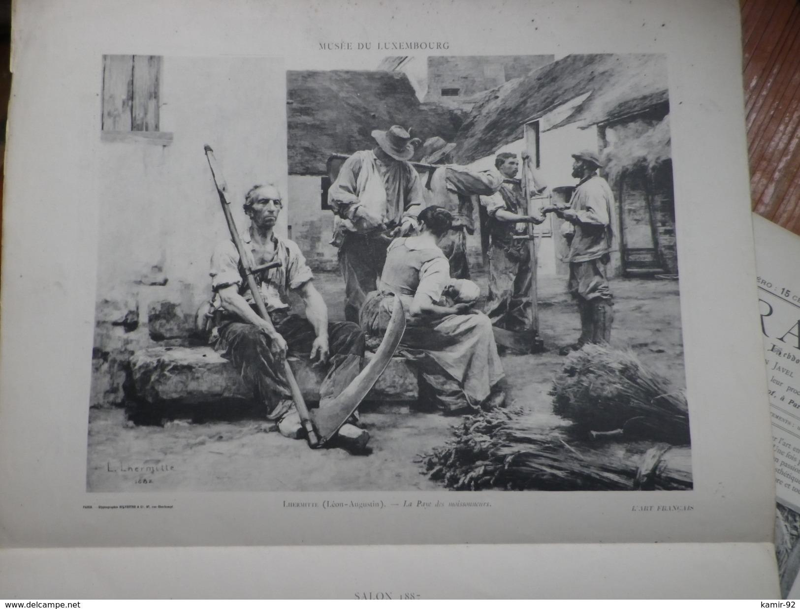 L Art Français  Revue Artistique Hebdomadaire Texte FJAVEL  Glyptographies SILVESTRE        N°39 1888  Voir Photos - Art
