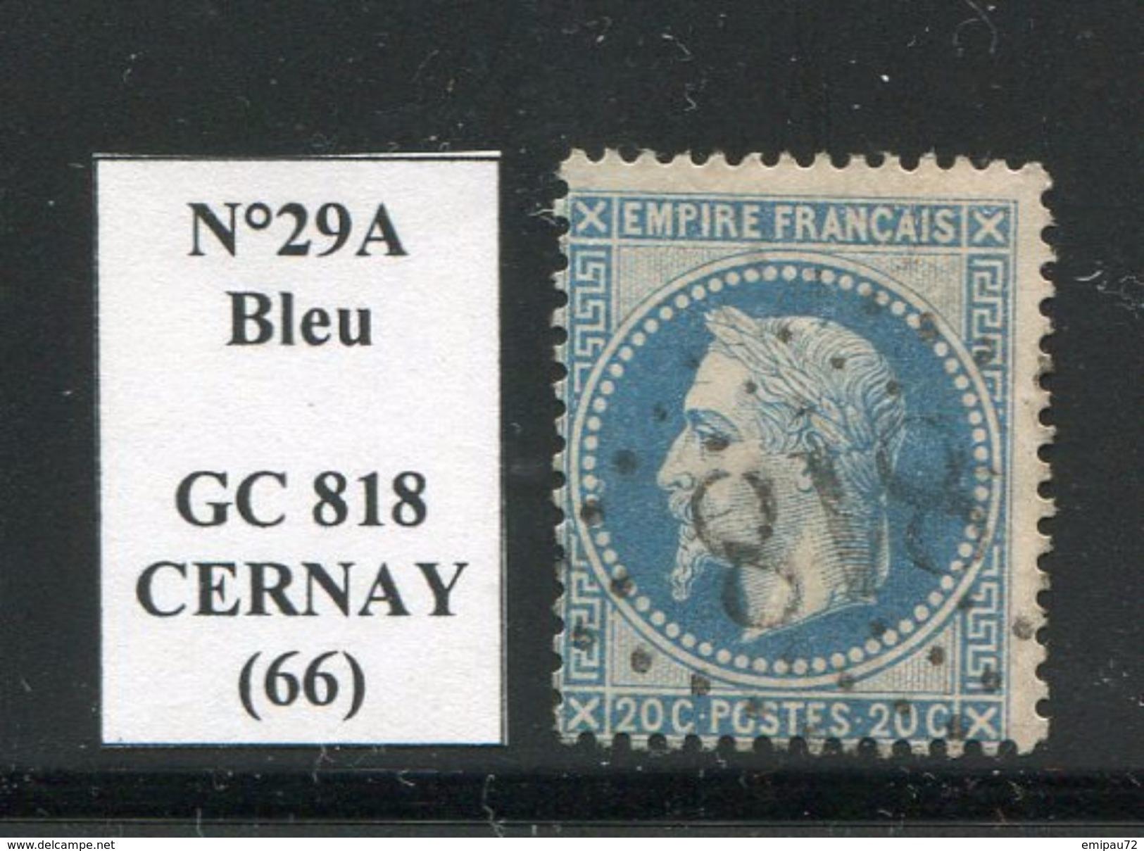 FRANCE- Y&T N°29A- GC 818 (CERNAY 66) - 1849-1876: Période Classique
