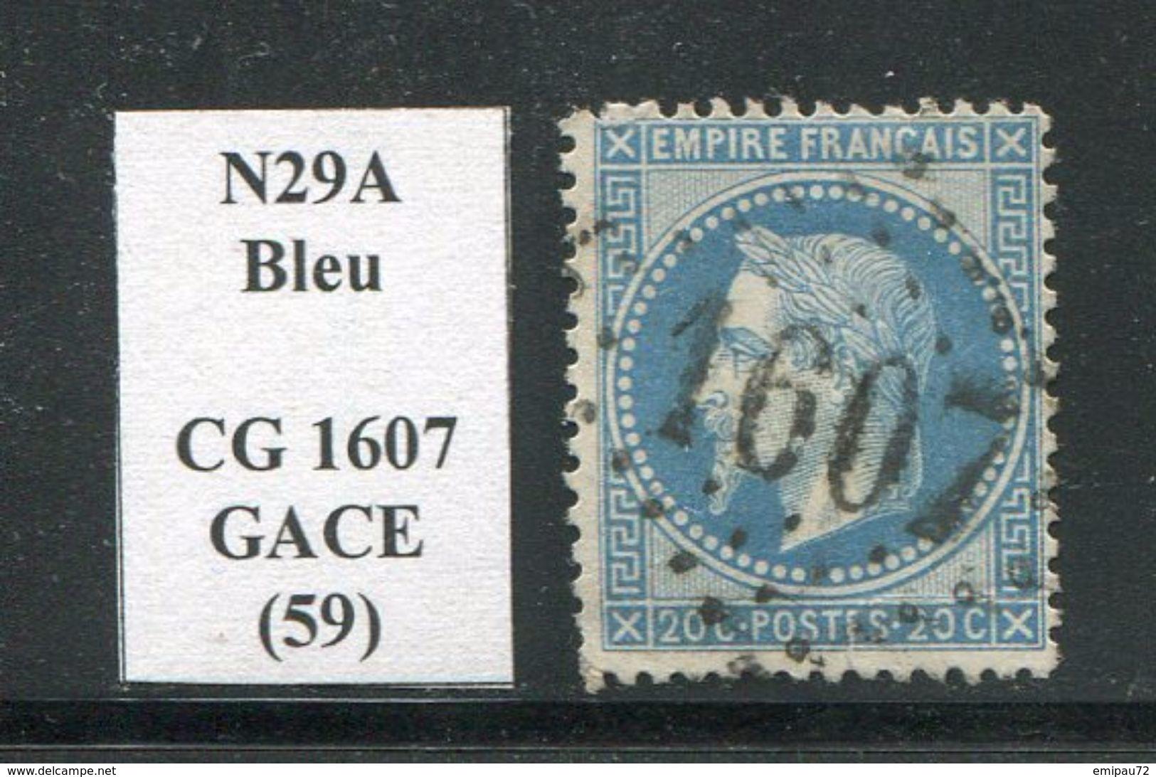 FRANCE- Y&T N°29A- GC 1607 (GACE 59) - Marcophilie (Timbres Détachés)