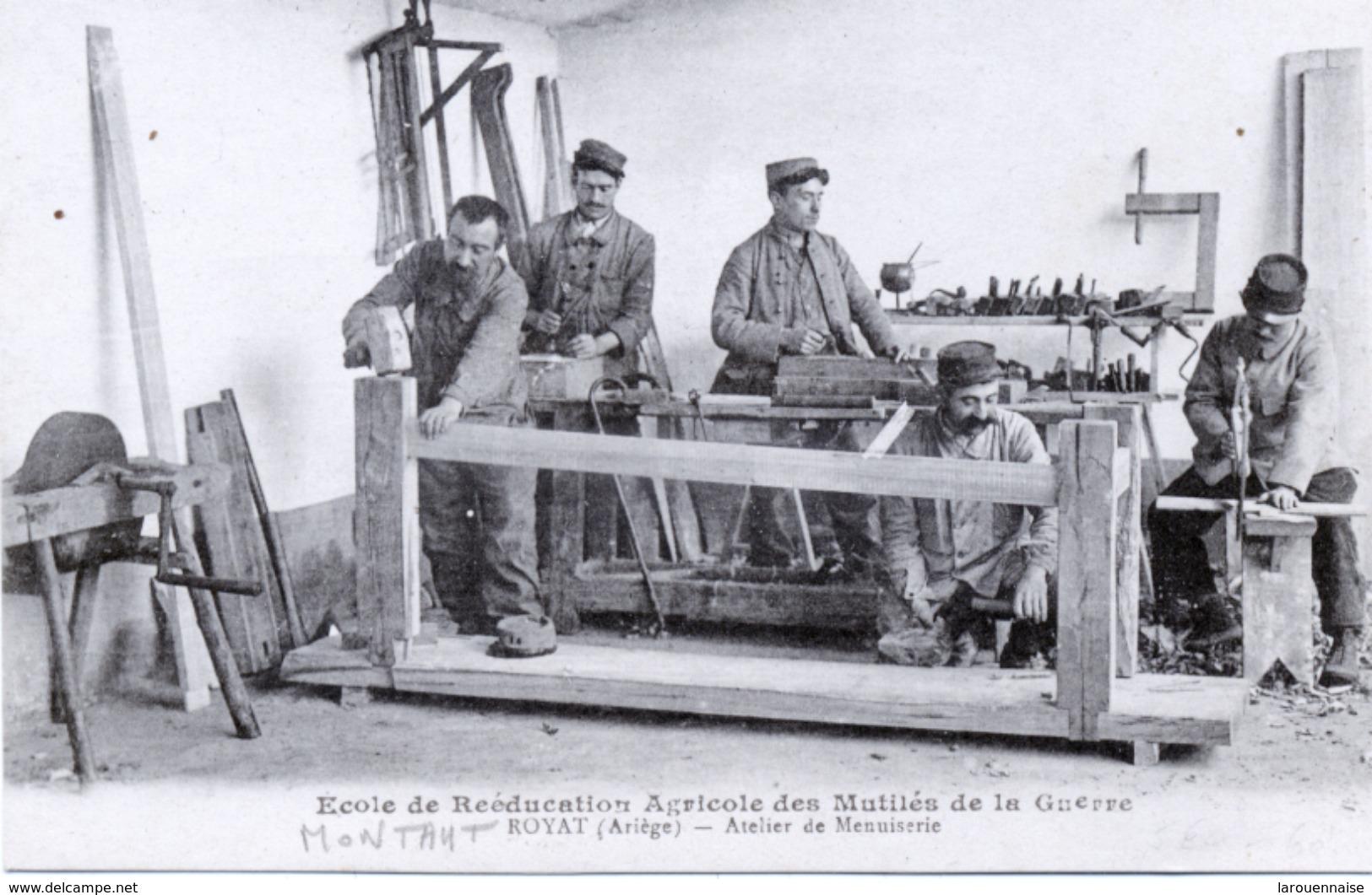 09 - Montaut : Ecole De Reéducation Agricole Des Mutilés De La Guerre - Atelier De Meunuiserie . - France