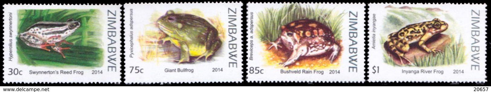 Zimbabwe 0762/65 Grenouilles - Frösche