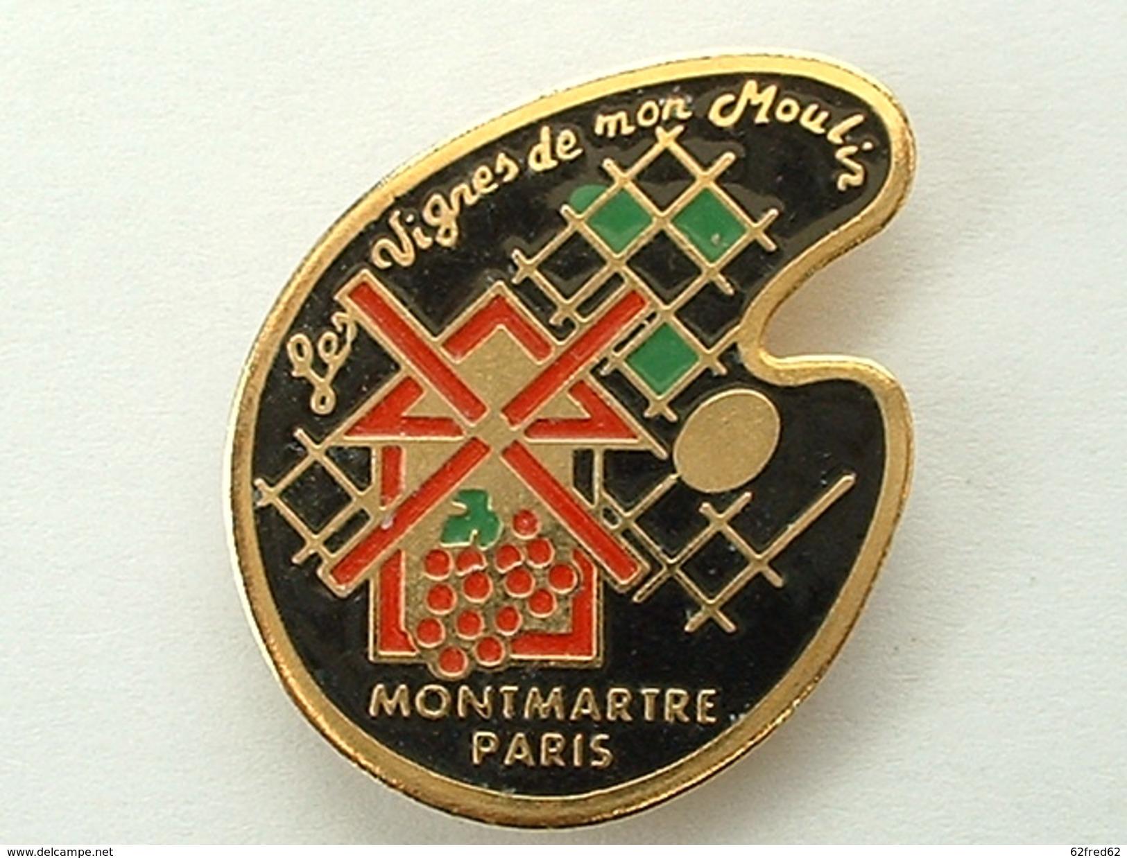 PIN´S MONTMARTRE PARIS - LES VIGNES DE MON MOULIN - PALETTE DE PEINTURE - Villes