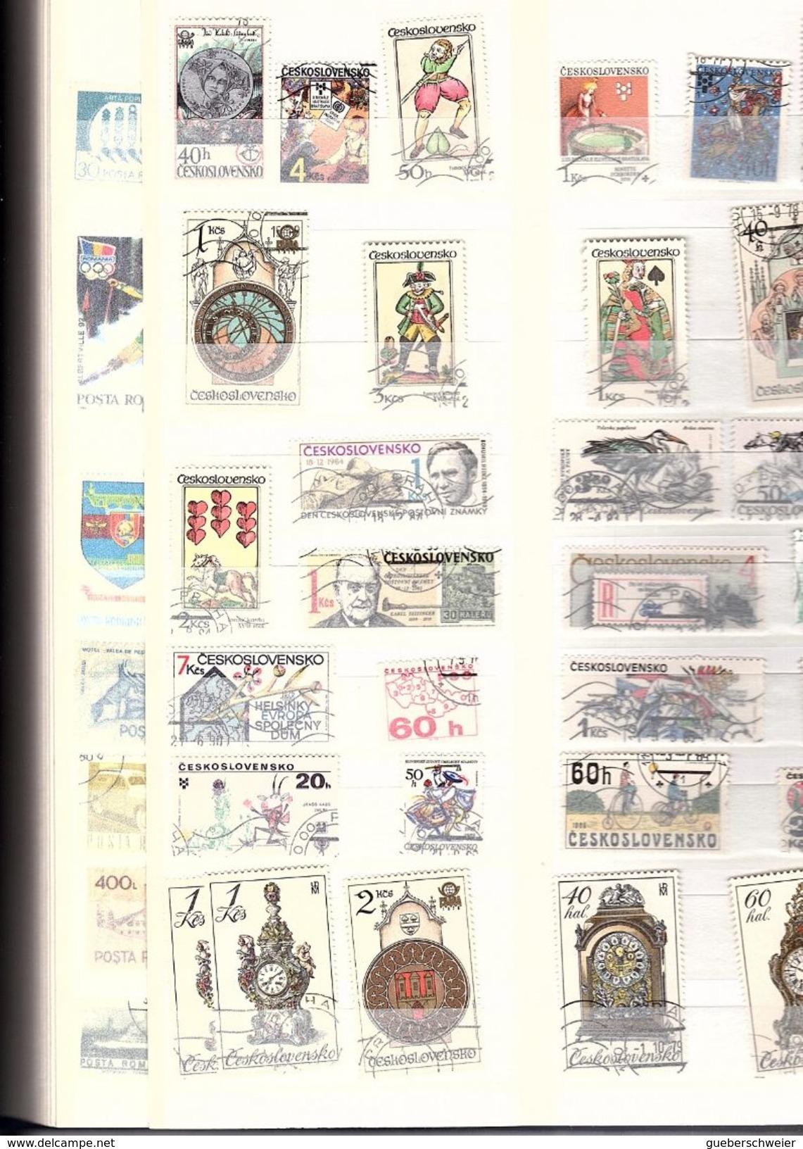Classeur De 64 Pages Avec Env. 1500 Timbres De Différents Pays D'Europe Oblitérés Voir Descriptif - Timbres
