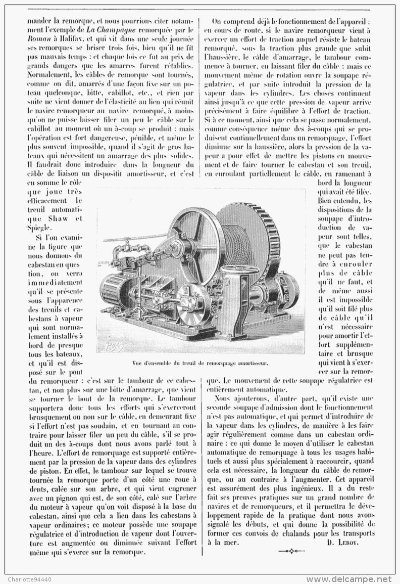 TREUIL De REMORQUAGE AMORTISSEUR  1902 - Non Classés