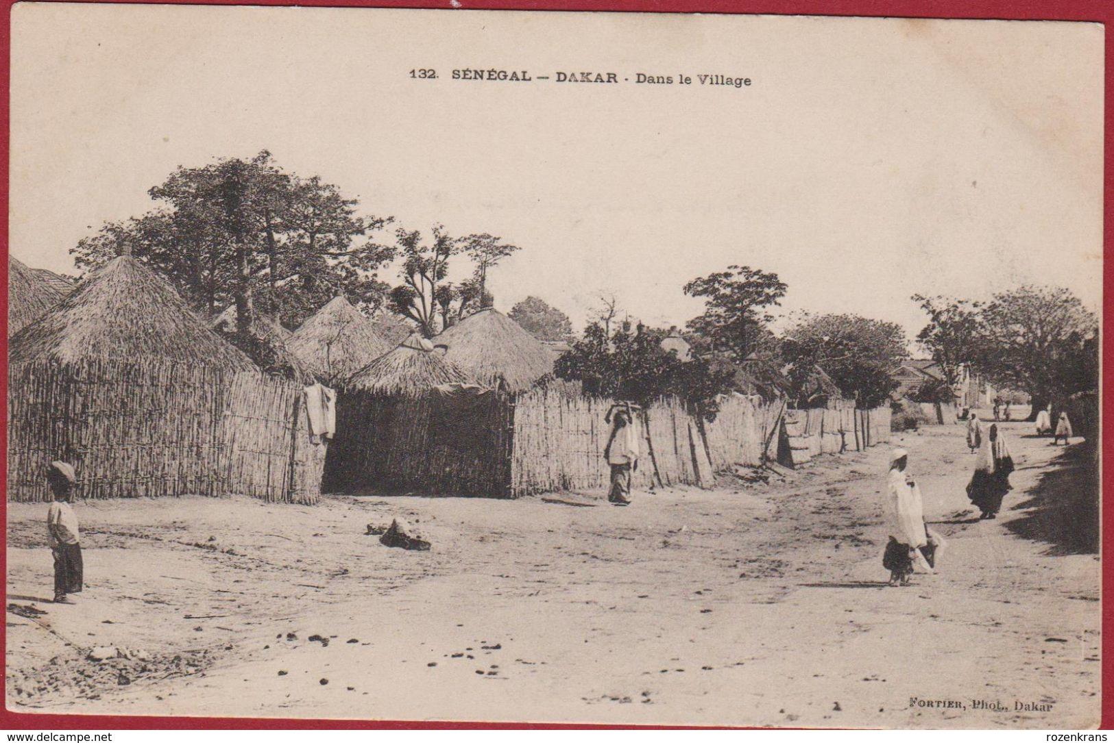 SENEGAL Dakar Dans Le Village Edit. Fortier Photo - Afrika Afrique Occidentale West Africa - Sénégal