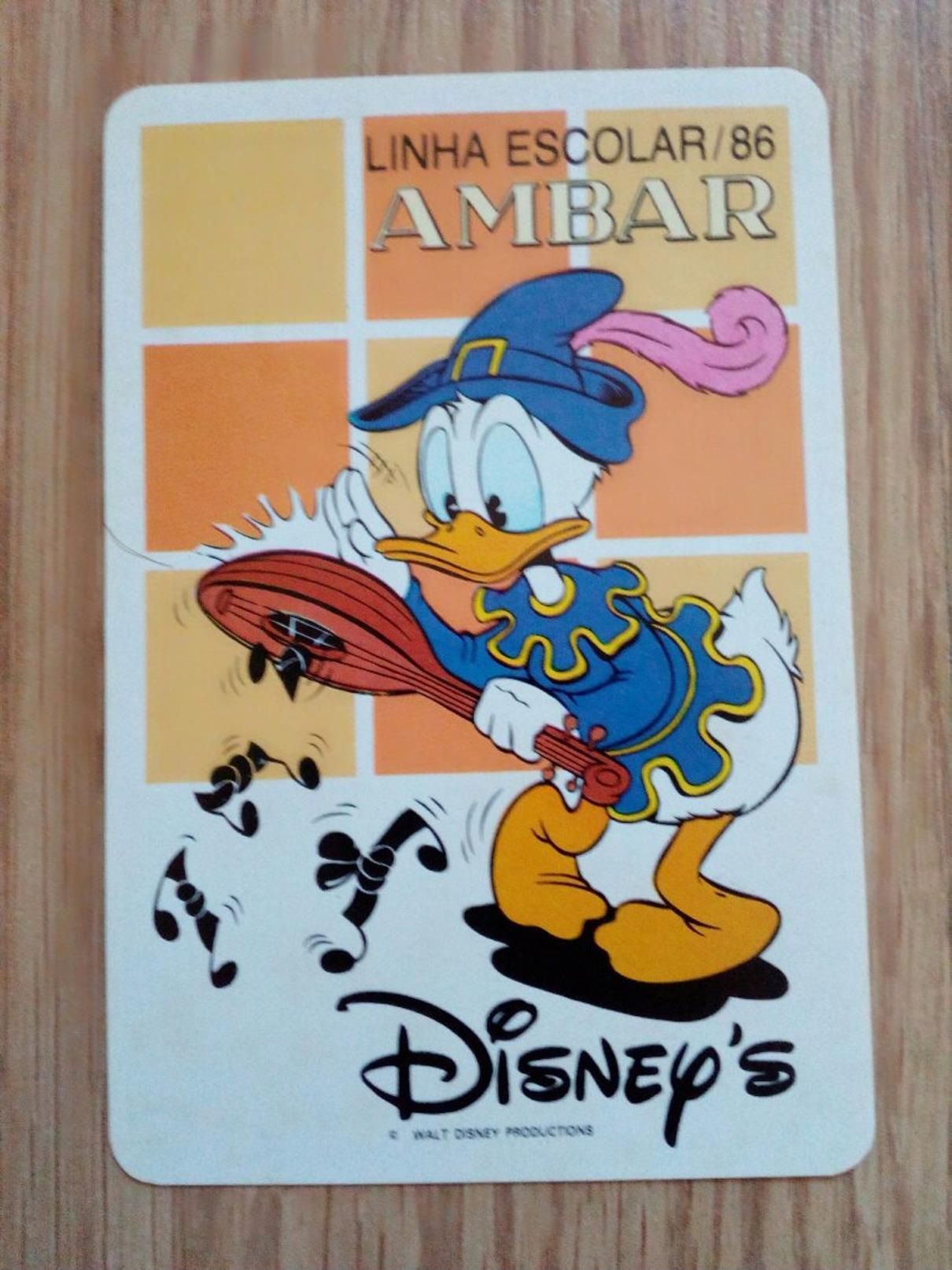 Calendrier De Poche Disney 1986 - Tamaño Pequeño : 1981-90