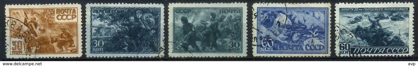 USSR 1943 Michel 865-869 Great Patriotic War, History, WWII, World War II Used - 1923-1991 URSS