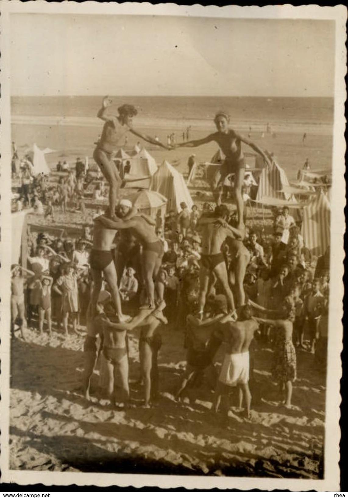 85 - LES SABLES D'OLONNE - Photo Concours De Pyramide Sur La Plage 1945 - Lieux