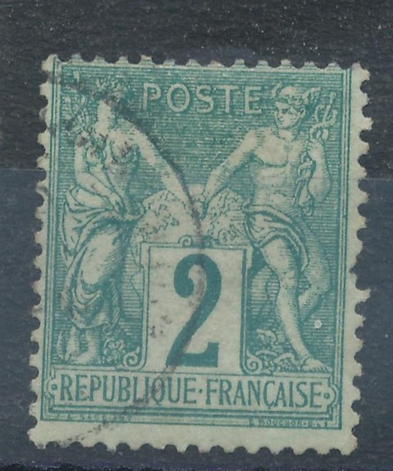 N°62 CACHET A DATE. - 1876-1878 Sage (Type I)