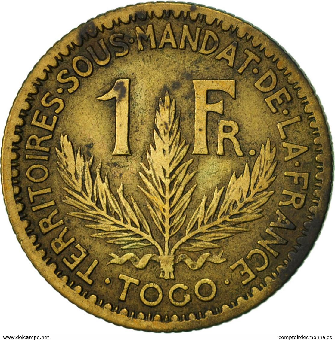 Togo, Franc, 1924, Paris, TTB, Aluminum-Bronze, KM:2 - Togo