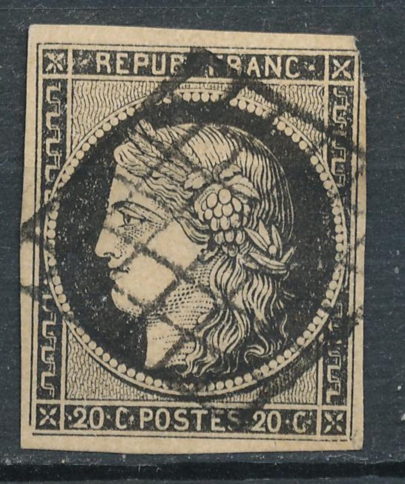 N°3 NUANCE GRILLE 1849. - 1849-1850 Cérès