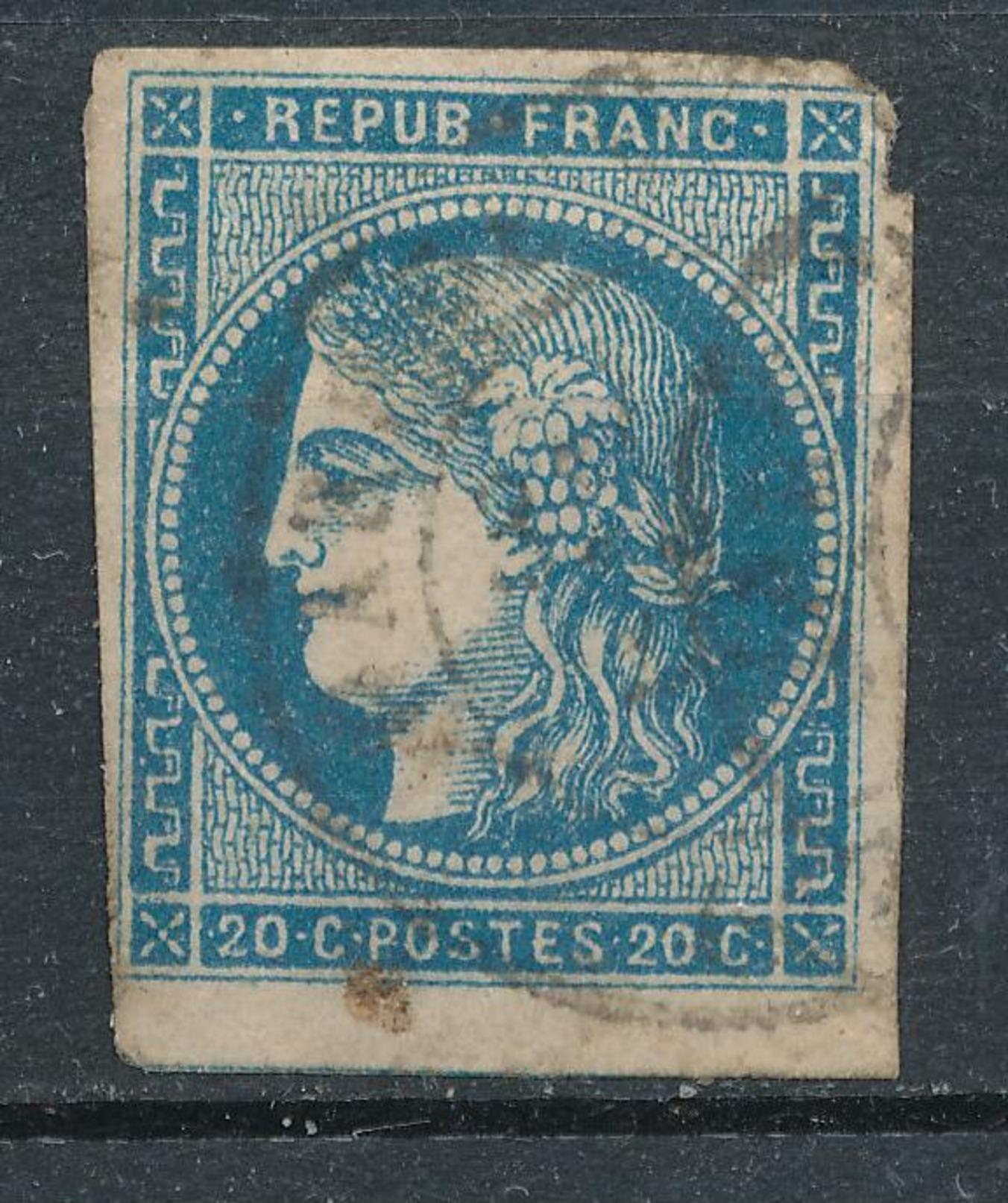 N°45 BORDEAUX VARIETE ET OBLITERATION. - 1870 Bordeaux Printing