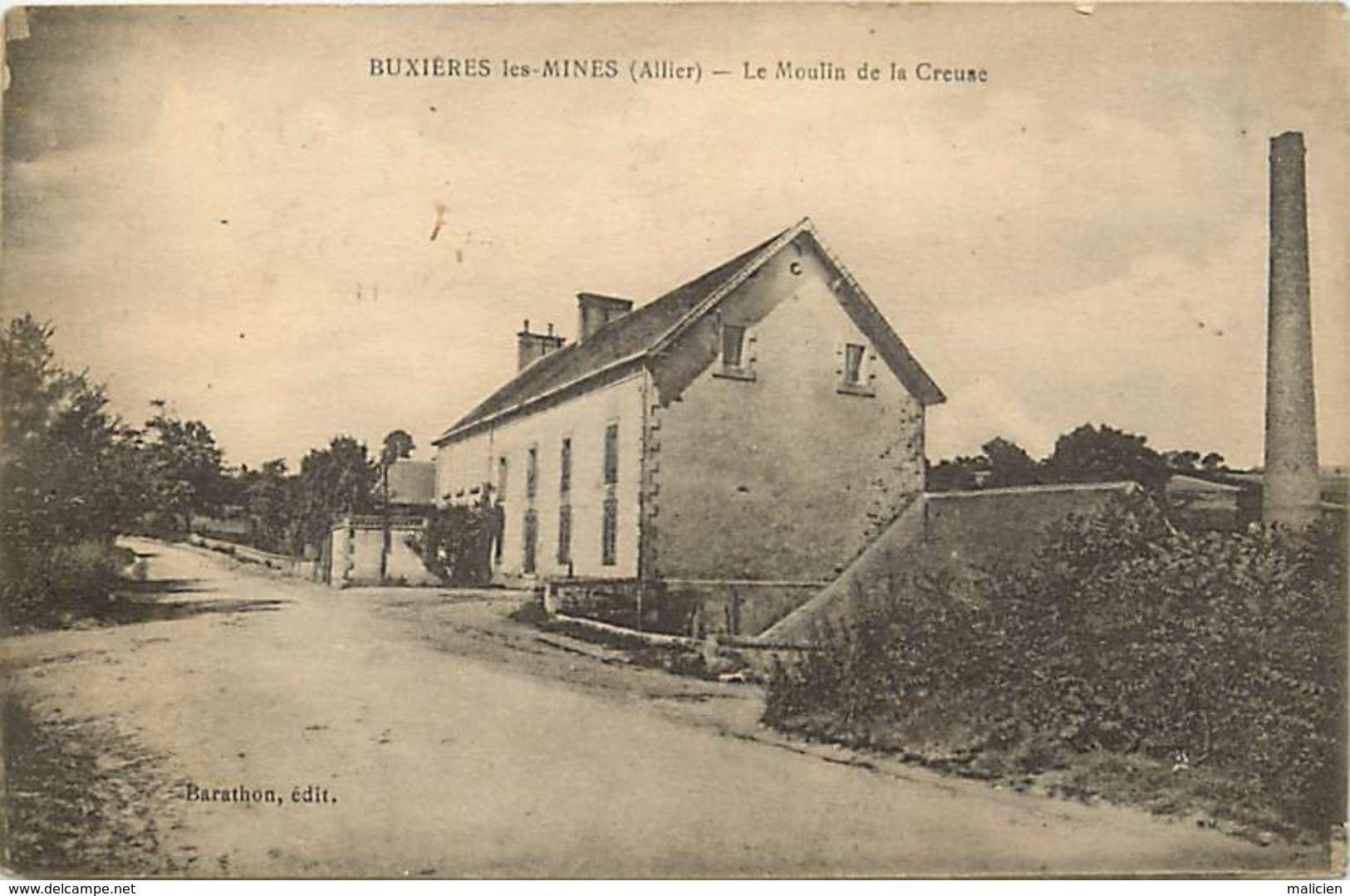 -dpts Div-ref-RR254- Allier - Buxieres Les Mines - Moulin A Eau De La Creuse - Moulins A Eau - Batiments Et Architecture - Frankrijk