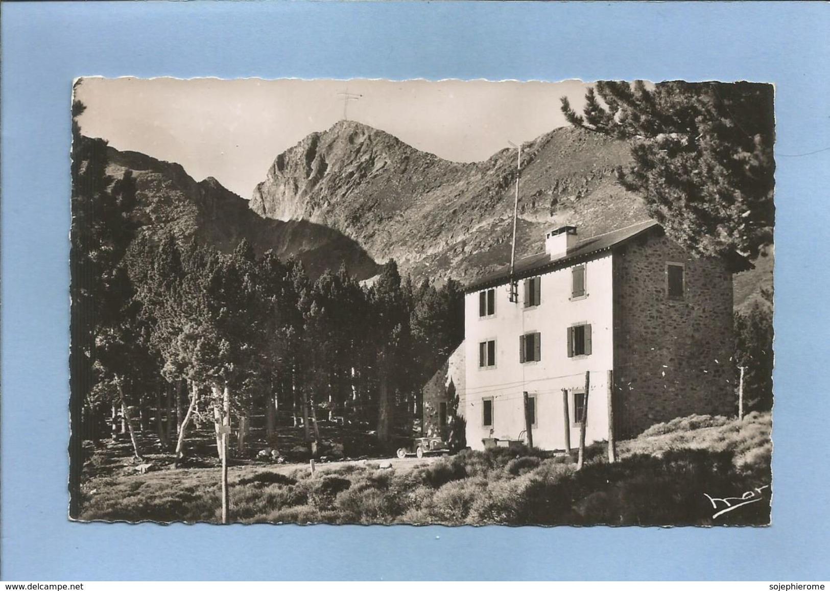 Vernet-les-Bains (66) Chalet-Hôtel Du C.A.F. à 2200 M. Massif Du Canigou 2 Scans 03/07/195- Voiture Décapotable - France