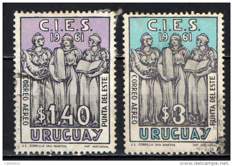 URUGUAY - 1961 - CONFERENZA INTERAMERICANA SUL WELFARE E L'ECONOMIA - USATI - Uruguay