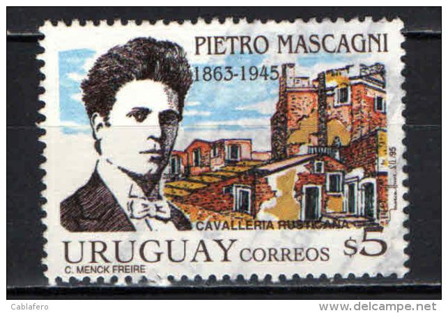 URUGUAY - 1995 - PIETRO MASCAGNI - COMPOSITORE - USATO - Uruguay