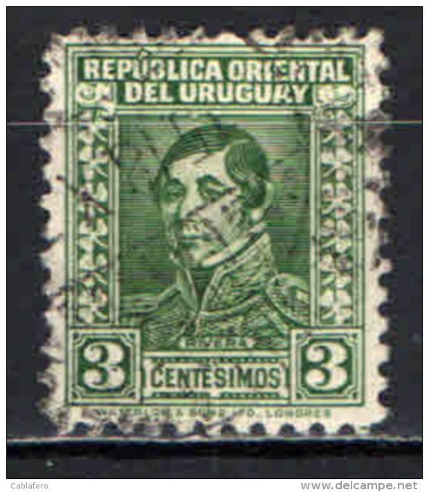 URUGUAY - 1934 - PERSONALITA': GENERALE RIVERA - USATO - Uruguay