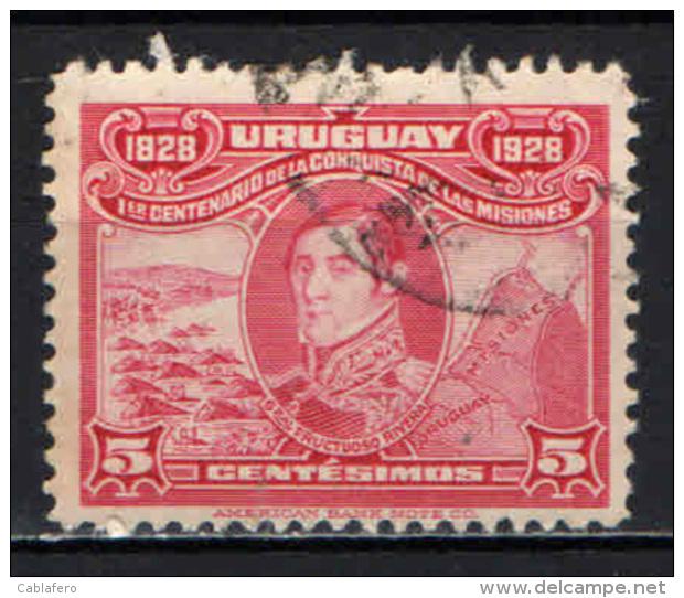 URUGUAY - 1928 - GENERALE RIVERA - USATO - Uruguay
