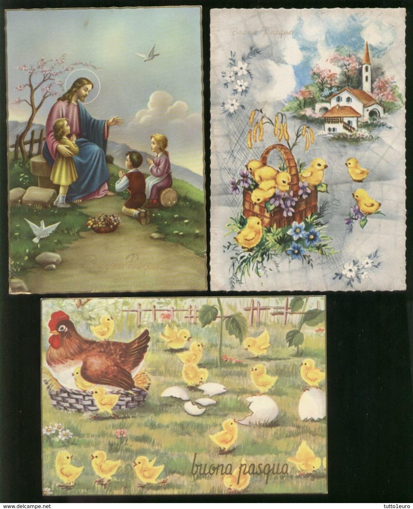 BEL LOTTO DI 15 CARTOLINE DI BUONA PASQUA ANNI 60-70   TUTTE VIAGGIATE - Pasqua