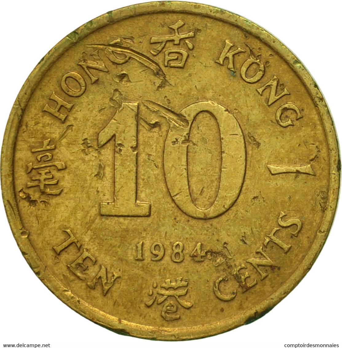 Hong Kong, Elizabeth II, 10 Cents, 1984, TTB, Nickel-brass, KM:49 - Hong Kong