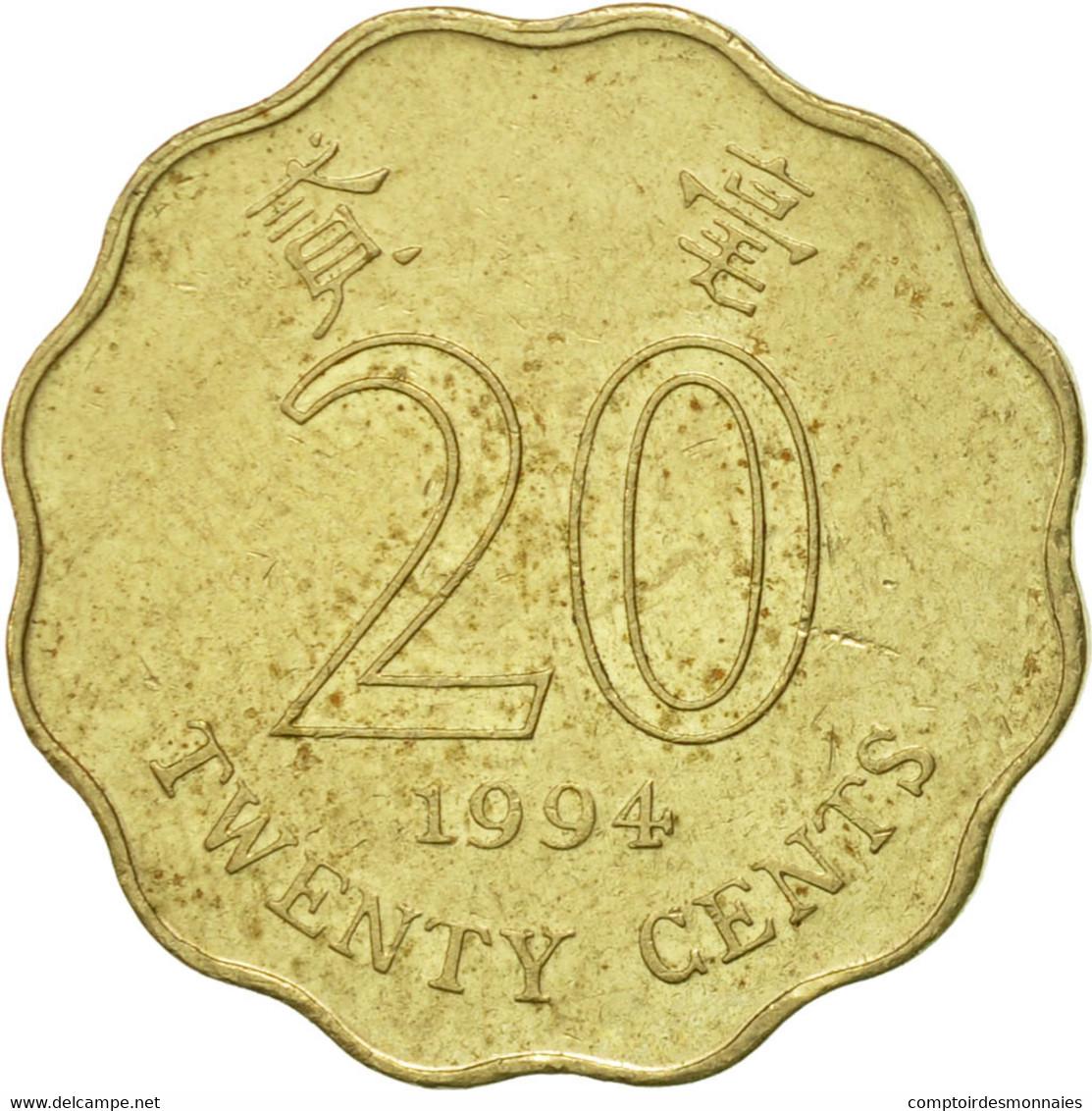 Hong Kong, Elizabeth II, 20 Cents, 1994, TTB+, Nickel-brass, KM:67 - Hong Kong